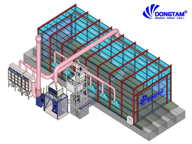Mô hình phòng phun bi - Đồng Tâm