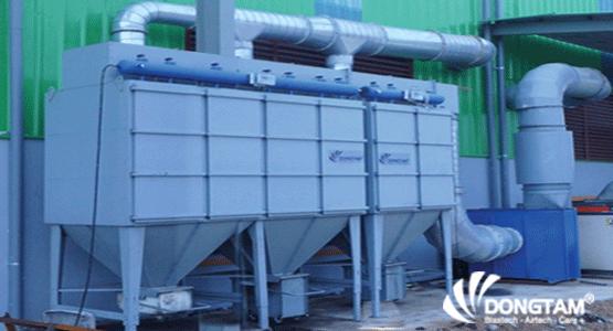 Hệ thống hút bụi công nghiệp - Áp dụng cho phòng phun bi thép