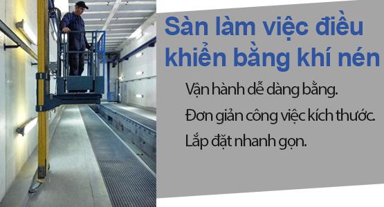 Sàn làm việc trên cao | Công nghệ khí nén