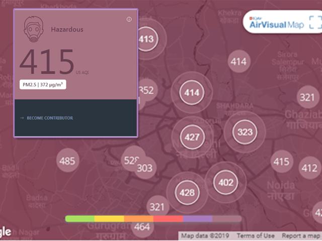 Bụi mịn PM2.5 Nồng độ cao ảnh hưởng sức khỏe con người