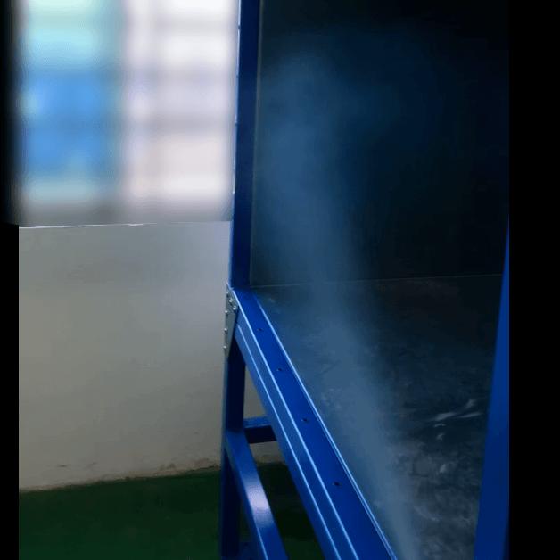 Nguyên lý hoạt động bụi sơn, được hút theo cửa