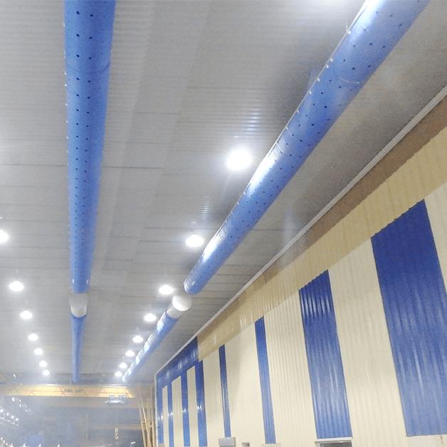 Hê thống đường ống treo trên trần nhà xưởng
