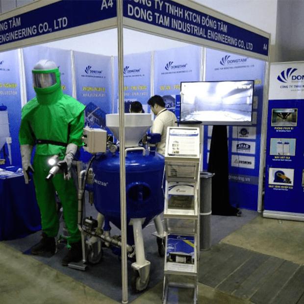 Trọn bộ trang thiết bị bảo hộ cho phòng phun bi