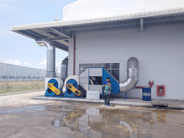 Đường ống vận chuyển không khí mang bụi