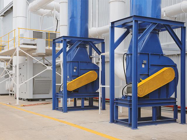 Đường ống vạn chuyển không khí xử lý bụi sơn