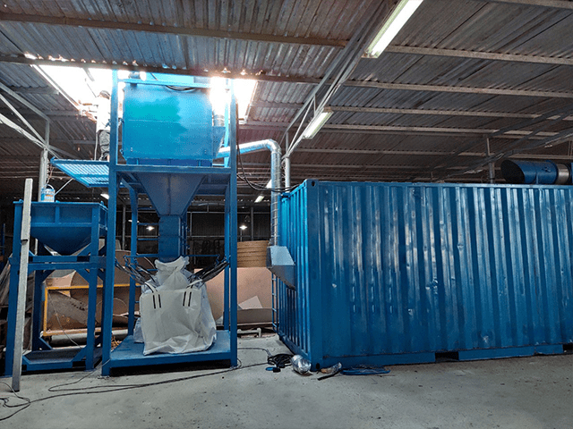 Hệ thống hút bụi bằng container